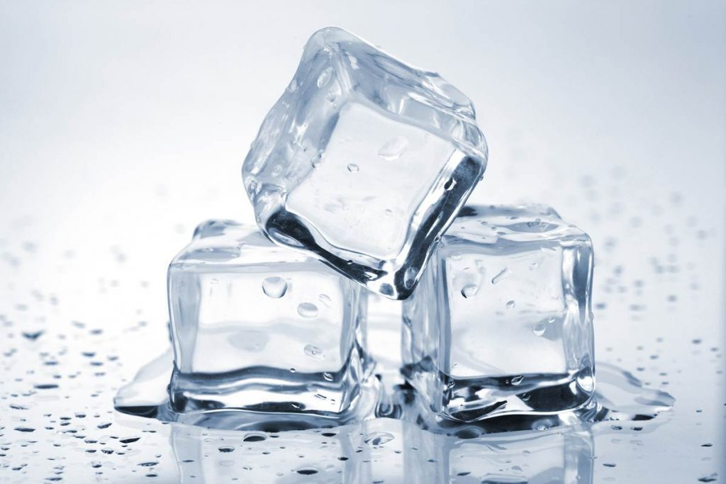 image of ice blocks